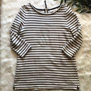 Loft Striped 3/4 Sleeve Sweater Size M